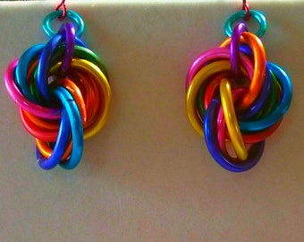 EARRINGS-Eternity Style- Mobius Weave, Hanging Earrings