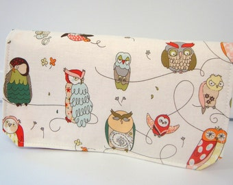 40% Off Coupon Holder Organizer Cash Budget Organizer - Attaches to your Shopping Cart - Spotted Owl Red Lining