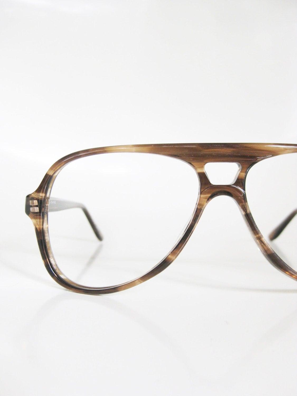 Aviator Eyeglasses Frame : Mens Aviator Sunglass Frames 1970s Vintage Eyeglasses