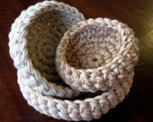 Nesting Bowls Crochet Pattern - Very Quick and Easy
