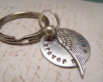 Forever My Angel Keychain. Memorial. Memento . Grief. Loss. Angel Wing