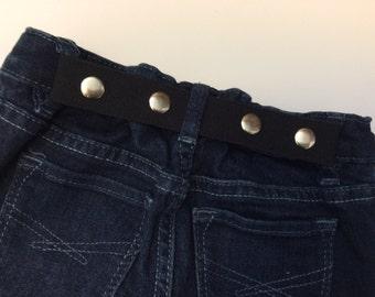 Elastic Toddler Belt - Elastic Belt - Kid Belt - Cinch Belt - Black