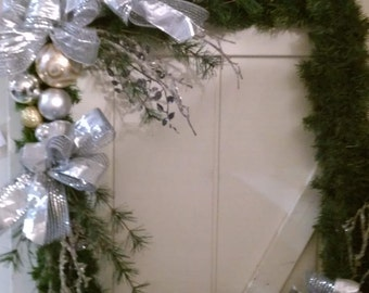 Square Winter/Holiday Wreath