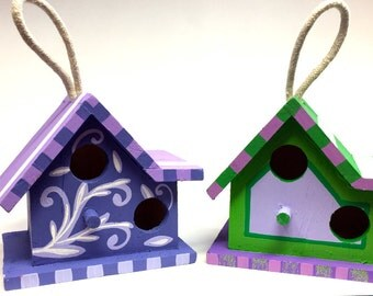 Hand Painted Small Birdhouses