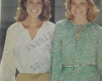 Pretty blouse Butterick pattern circa 1970s