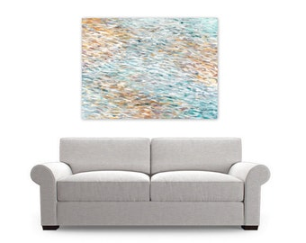 Abstract Painting Art Print Instant Digital Download Coastal Home Decor light gray white blue ocean water, Sand And Sea by Jessica Torrant
