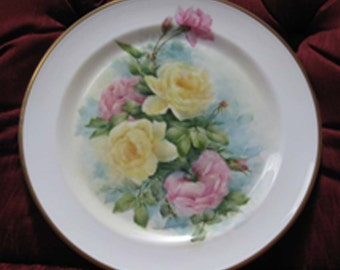 Plate, Hand painted Wedgewood Porcelain