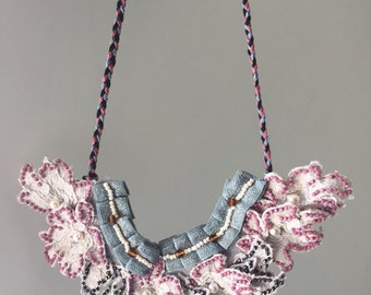 Beaded Lace Necklace - BBL2