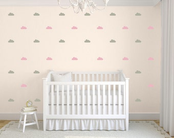 Tiny Clouds Wall Decals, Little Clouds Wall Stickers, Childrens Wall Decals, Nursery Wall Art