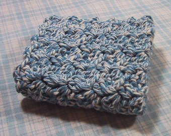 Perfect Dish Cloth - Crocheted in Cotton Yarn - Denim Twist Color - Handmade - Great for Kitchen or Bath