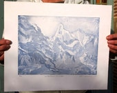 Ghosts of the Cathars, a limited edition etching