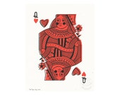 Queen of Hearts Illustrated Art Print