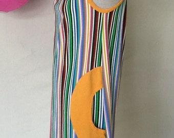 Items Similar To 1970s French Chevron Stripe Dress On Etsy