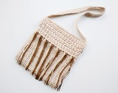 1960s Cellophane Raffia Shoulder Bag