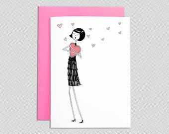 1920's Flapper Valentines Day Card