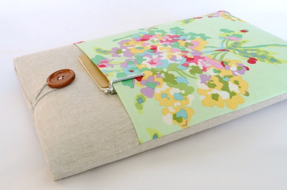 "Floral Laptop Cover, Custom Fit Gift for Her MacBook Pro, Surface 3, Dell XPS 13"", Mac Book Air - Watercolor Flowers"