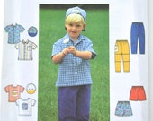 See Shop Announcement for 60%off code! Toddlers Shirt, Top, Pants, Shorts & Cap - Simplicity 7994 Pattern - UNCUT