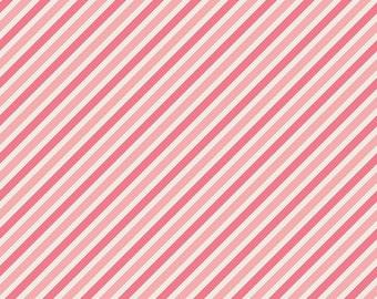 Riley Blake Designs Sunshine Stripe Pink by Zoe Pearn 100% cotton