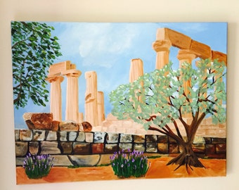 """Valley of Temples, 18""""x24""""' acrylic painting by Sharon James"""