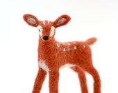 Felted Woodland Miniature Fawn, Needle Felted Fawn Standing Figure, Woodland Decor