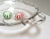 Clear Glass Handled Candy Dish, Finger Bowl, Serving Dish, Change Dish