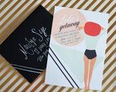Bachelorette Getaway Weekend, Printable Party Invitation