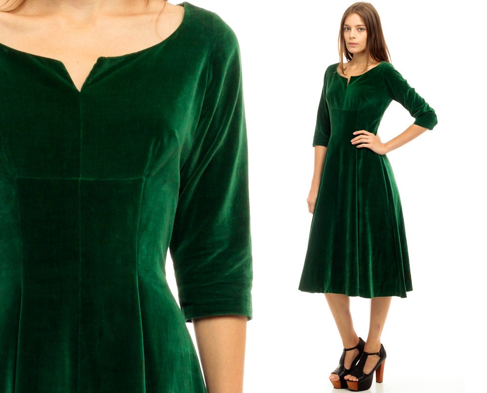 To acquire Velvet green dress pictures trends