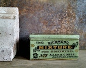 Antique Green Tobacco Tin Box Vintage Smoking Advertising