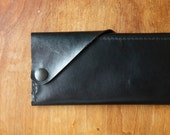 """Leather Wrap Wallet """"The Constance"""" in Restoration Black"""