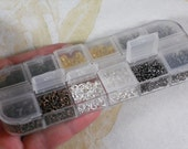 4mm Jump Rings Mixed Color Assorted Metal Tones in Plastic Box Storage Container (S221)