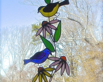 Birds and Flowers panel