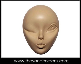 Mold No.134 (Face - High cheekbone - Winking and Kissing with Big eye) by Veronica