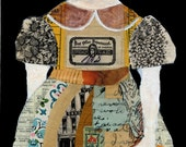 Mixed Media Collage with Vintage Papers Limited Edition Signed Print