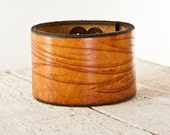 Leather Cuff - Leather Bracelet - Leather Wristband - Leather Jewelry