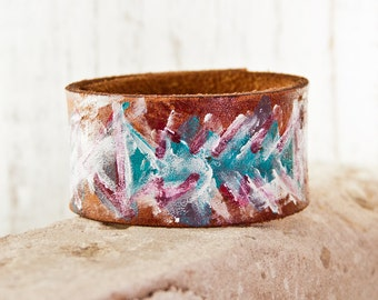HOLIDAY SALE - Leather Cuff Bracelet - Christmas Gift New Years Winter Holiday Shopping  - Ideas For Gifts