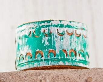 CREATIVE Bracelets Inspired Leather Jewelry - Festival Wrist Cuff - Eco Friendly Bracelet - Earthy Natural Unique