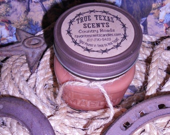 Back in the Saddle  - 8 oz Western Texas Cowboy Style Candle