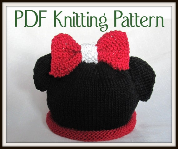 Minnie Mouse Knit Hat Pattern Joy Studio Design Gallery - Best Design