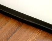 Door Draft Stopper, Door Snake. Black Satin Extra Long