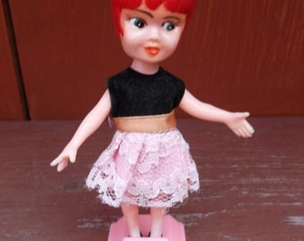 1960's Miss Merry Party Girl Vintage Doll Hong Kong