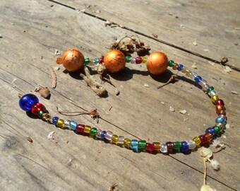Orange Glass Balls- Pleasure Balls-Love Balls - Female Stimulation- Ben Wa Balls-mature