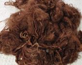 Long Suri Alpaca Fiber, 8 Inches, Medium Brown, 2 Ounces, Cody