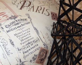 Paris Pretty Pillow French Shops Postcards Letters Stamps All Things French Oh La La