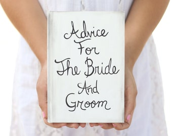 Rustic Guest Book Advice For The Bride and Groom Shabby Chic Wedding Decor Bridal Shower QUICK shipping available