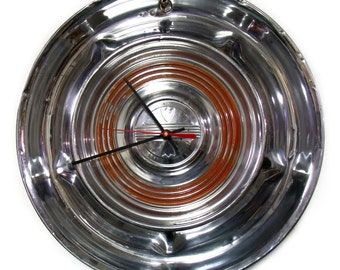 old hub cap  1958 oldsmobile hubcap clock 58 olds classic car wall decor vintage hub cap