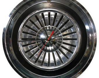 1958 Chrysler New Yorker Hubcap Clock - Classic Car Wall Clock - Mopar Decor - Hub Cap - Retro - Modern - Minimalist - Father's Day Gift