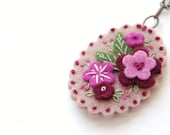 Embroidered Floral Necklace