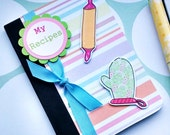 Recipe Notebook - Baking Cooking Jotter - My Recipes - Stocking Filler - Mini Notebook