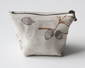 Coin Pouch - Light Oak & Acorn