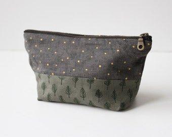 Small Traveler Pouch - Trees and Stars